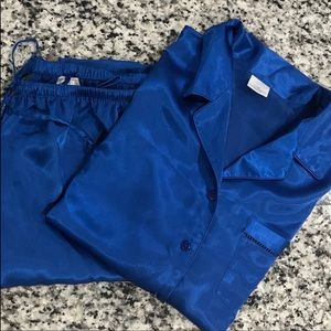 Cabernet Blue Pajama Short Sleeve Pant Set 2 Piece